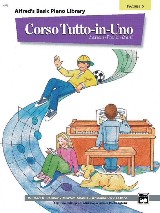 Alfred's Basic All-in-One Course Italian Edition, Book 5 [Corso Tutto-in-Uno]