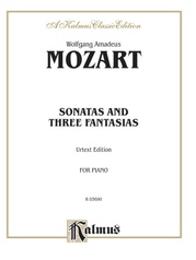 Sonatas and Three Fantasias (Urtext Edition)