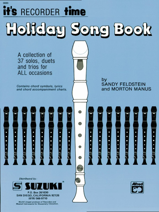 Recorder Holiday Songbook (Suzuki Corp. Edition)