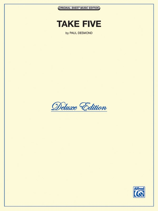 Take Five Pianovocalchords Sheet The Dave Brubeck Quartet