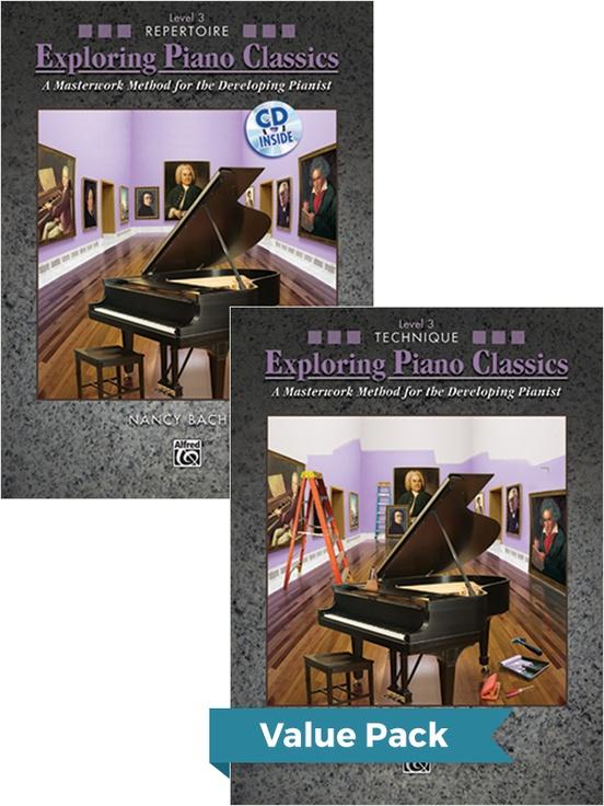 Exploring Piano Classics Level 3 (Value Pack)