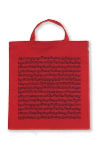 Tote Bag: Sheet Music (Red)