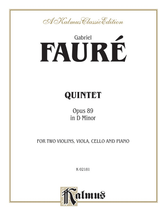Quintet in D Minor, Opus 89