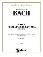 Arias from Church Cantatas, Volume II (12 Secular)