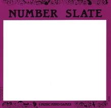 Music Mind Games, Level 1: Number Slate Cards