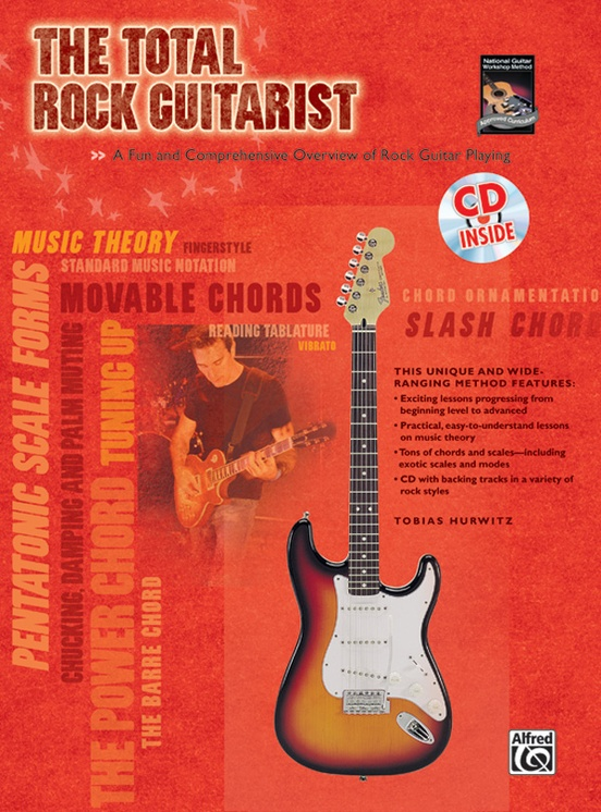 Backing tracks with chord charts /& TAB. Jam with a band rock guitar book /& CD