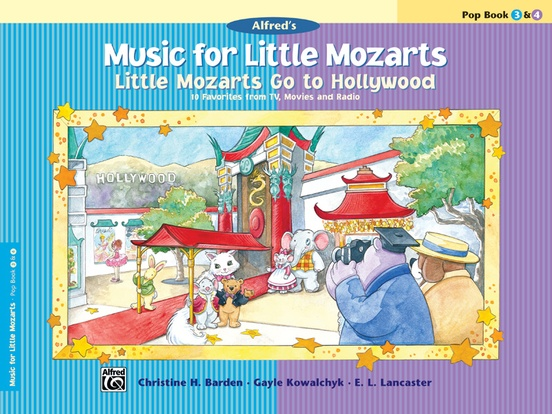 Music for Little Mozarts: Little Mozarts Go to Hollywood, Pop Book 3 & 4