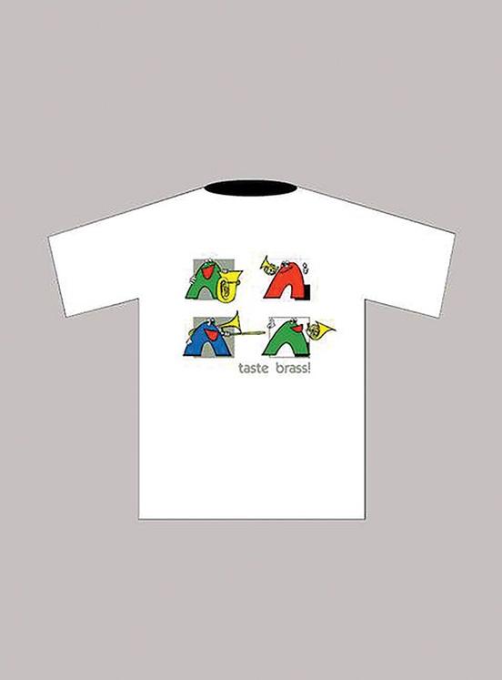 Taste Brass! T-Shirt: White (Medium)