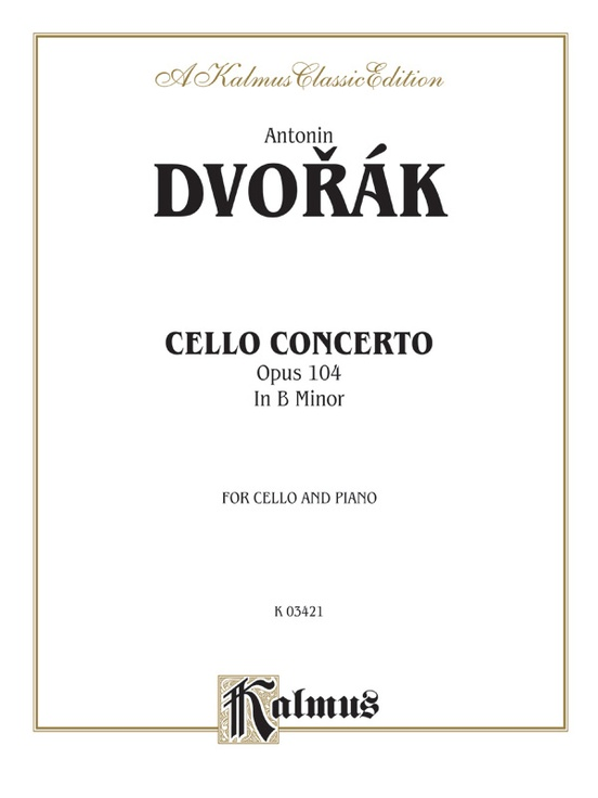 Cello Concerto, Opus 104