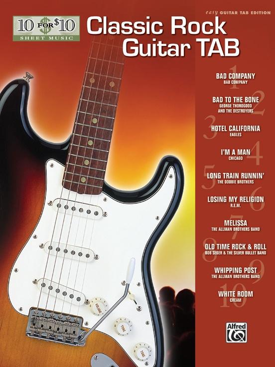 10 for 10 Sheet Music: Classic Rock Guitar Tab