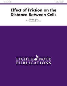 Effect of Friction on the Distance Between Cells