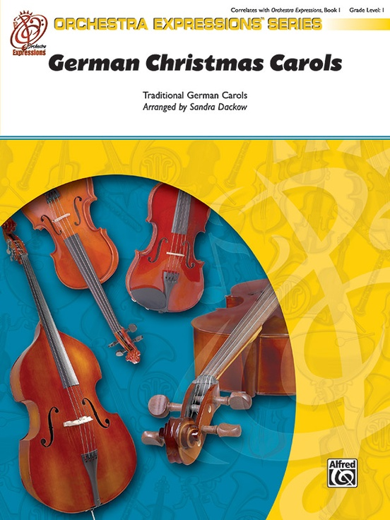 german christmas carols string orchestra conductor score parts