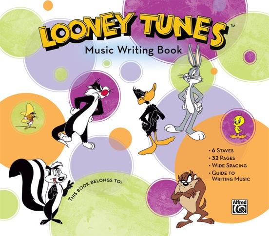 Looney Tunes Music Writing Book