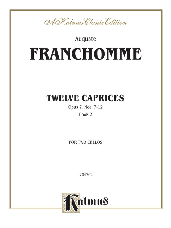 Twelve Caprices for Two Cellos, Opus 7