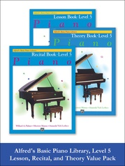 Alfred's Basic Piano Library Lesson, Theory, Recital 5 (Value Pack)