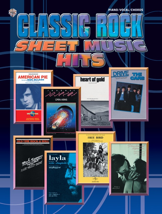 Classic Rock Sheet Music Hits Pianovocalchords Book