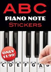 ABC Piano Note Stickers