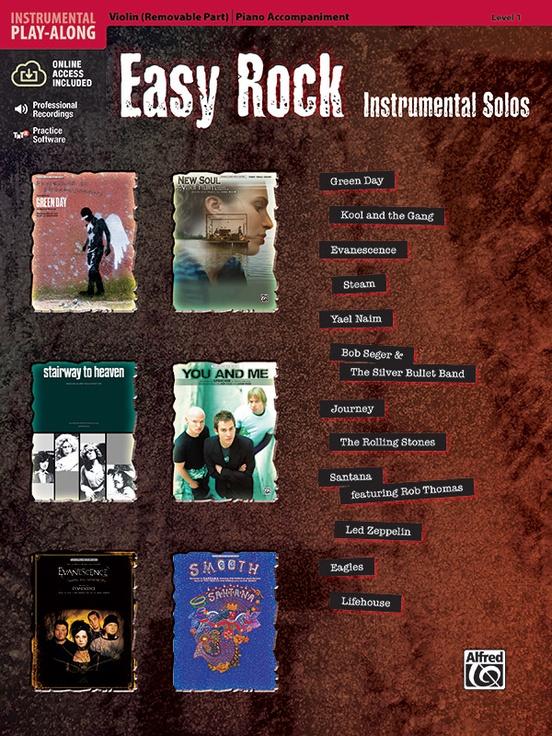Easy Rock Instrumental Solos, Level 1 for Strings