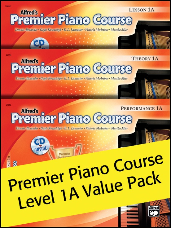 Premier Piano Course, Lesson, Theory & Performance 1A (Value Pack)