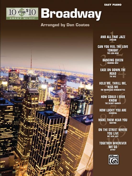 10 for 10 Sheet Music: Broadway