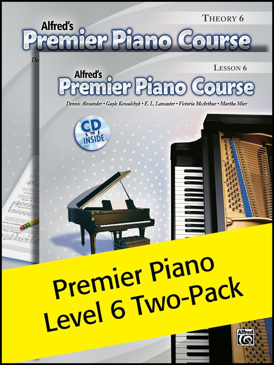 Premier Piano Course, Lesson & Theory 6 (Value Pack)