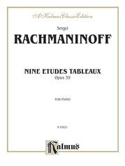 Etudes Tableaux, Opus 39