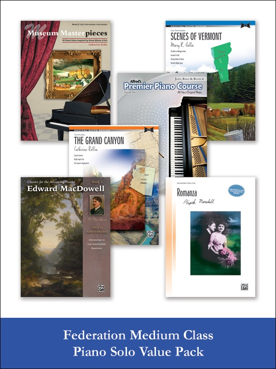 Federation Medium Class Piano Solo (Value Pack)