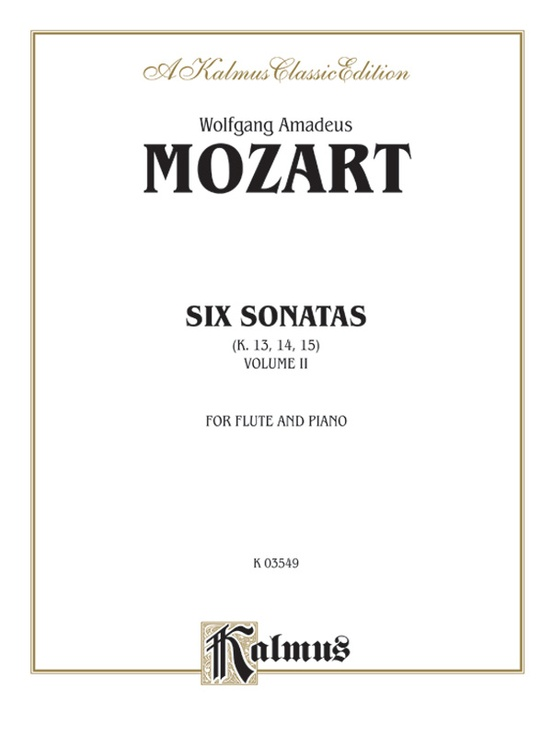 Six Sonatas, Volume II (Nos. 4-6) (K. 13, 14, 15)
