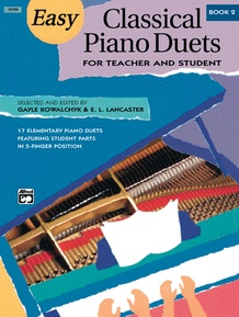 Easy Classical Piano Duets for Teacher and Student, Book 2