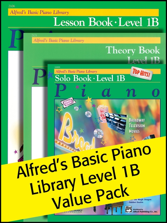 Alfred's Basic Piano Library 1B 2012 (Value Pack)