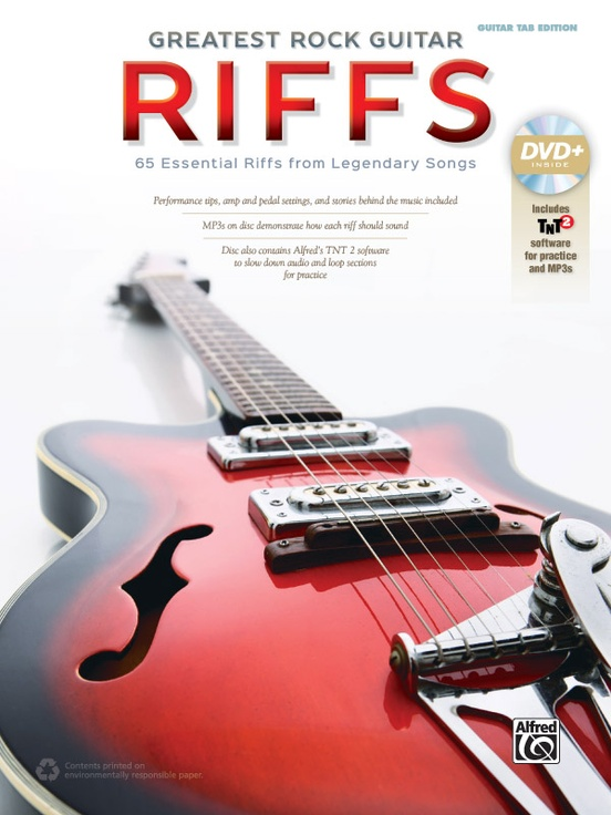 Greatest Rock Guitar Riffs: Guitar TAB Edition Book & DVD-ROM