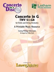 Concerto in G, TWV 51:G8 for Violin and String Orchestra (concerto on a disk)