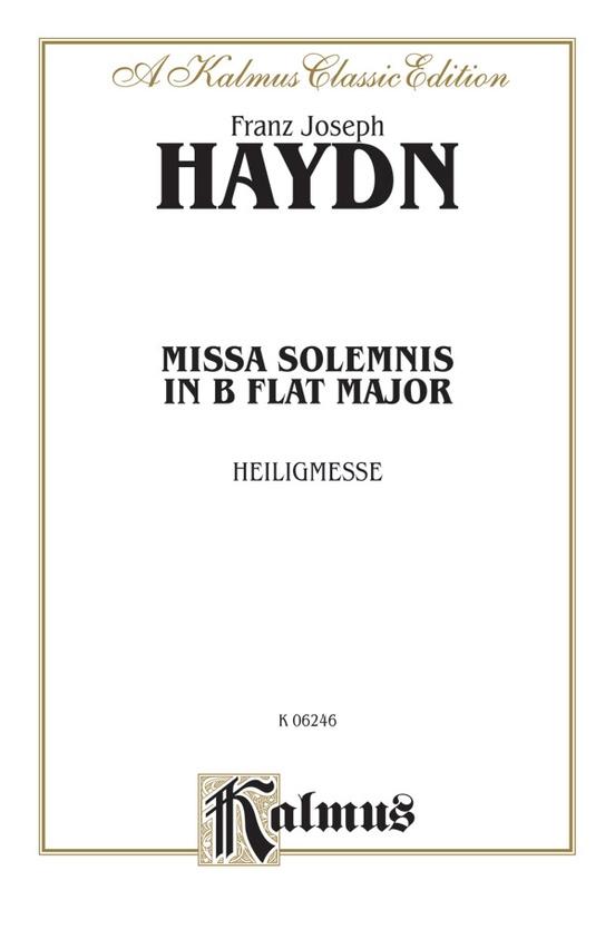 Missa Solemnis in B-flat Major (Heiligmesse)