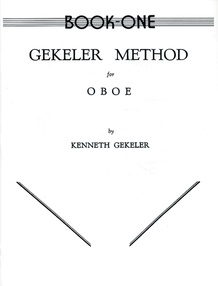 Gekeler Method for Oboe, Book I