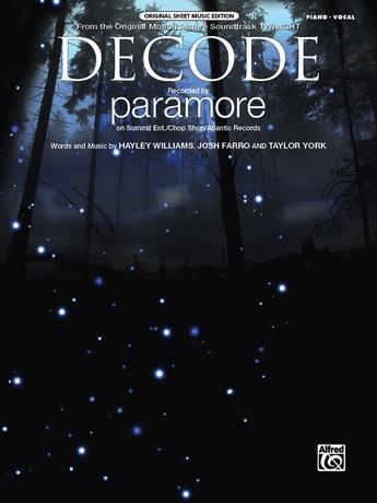 Decode Paramore Pianovocalchords Sheet Music