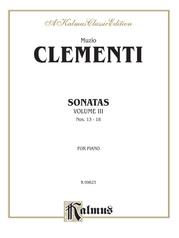 Piano Sonatas, Volume III (Nos. 13-18)