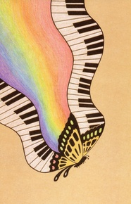 Schaum Recital Programs (Blank) #31: Butterfly with Keyboards