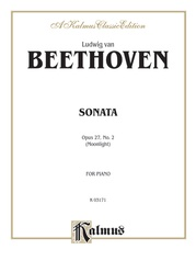 "Sonata No. 14 in C-sharp Minor, Opus 27, No. 2 (""Moonlight"")"
