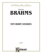 Ten Horn Studies, Opus Posthumous