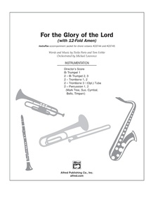 For the Glory of the Lord