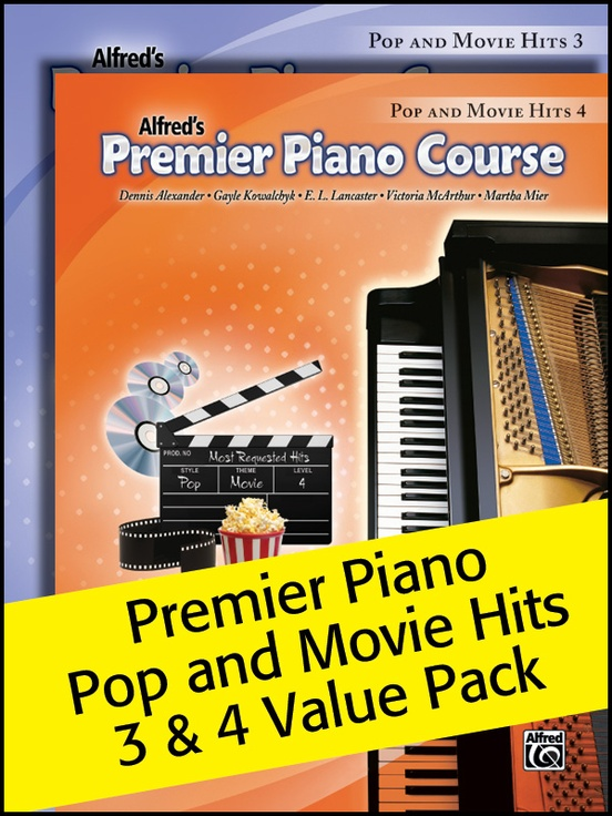 Premier Piano Course, Pop and Movie Hits 3 & 4 (Value Pack)