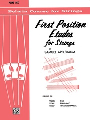 First Position Etudes for Strings