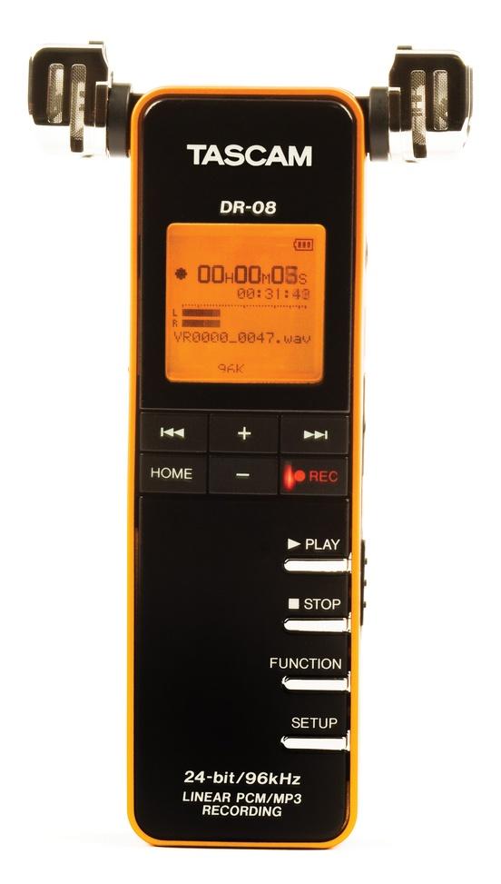 Tascam DR-08 Stereo Handheld Digital Recorder