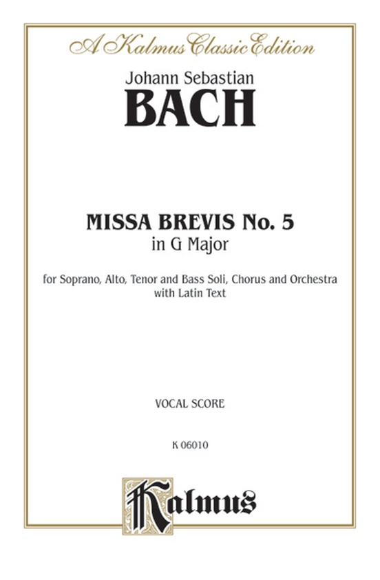 Missa Brevis No. 5 in G Major