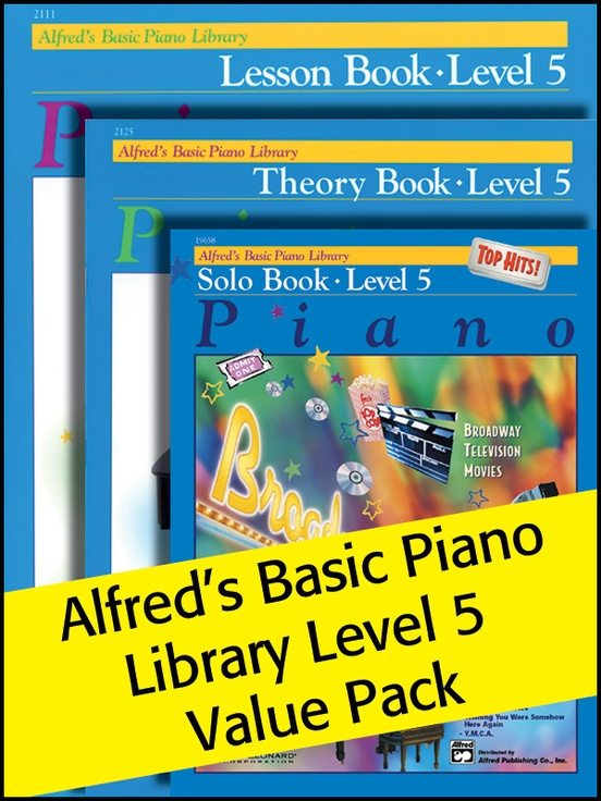Alfred's Basic Piano Library 5 2012 (Value Pack)