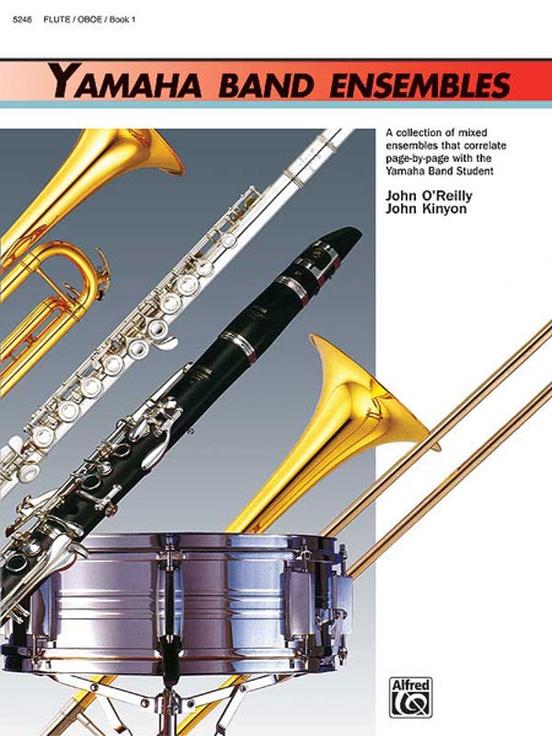 Yamaha band ensembles book 1 flute oboe book yamaha band ensembles book 1 fandeluxe Image collections