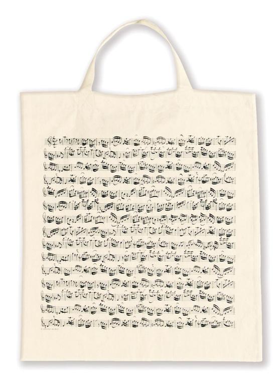 Tote Bag: Sheet Music (White)