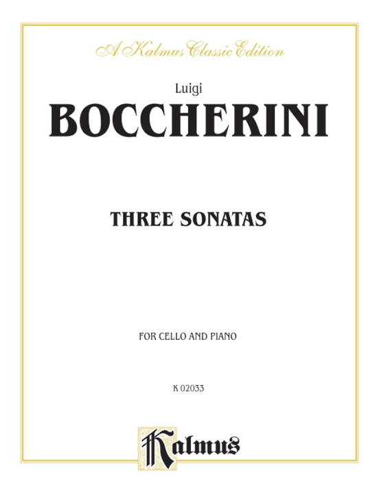 Three Sonatas for Cello and Piano