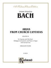 Soprano and Alto Arias, Volume III (4 Duets)