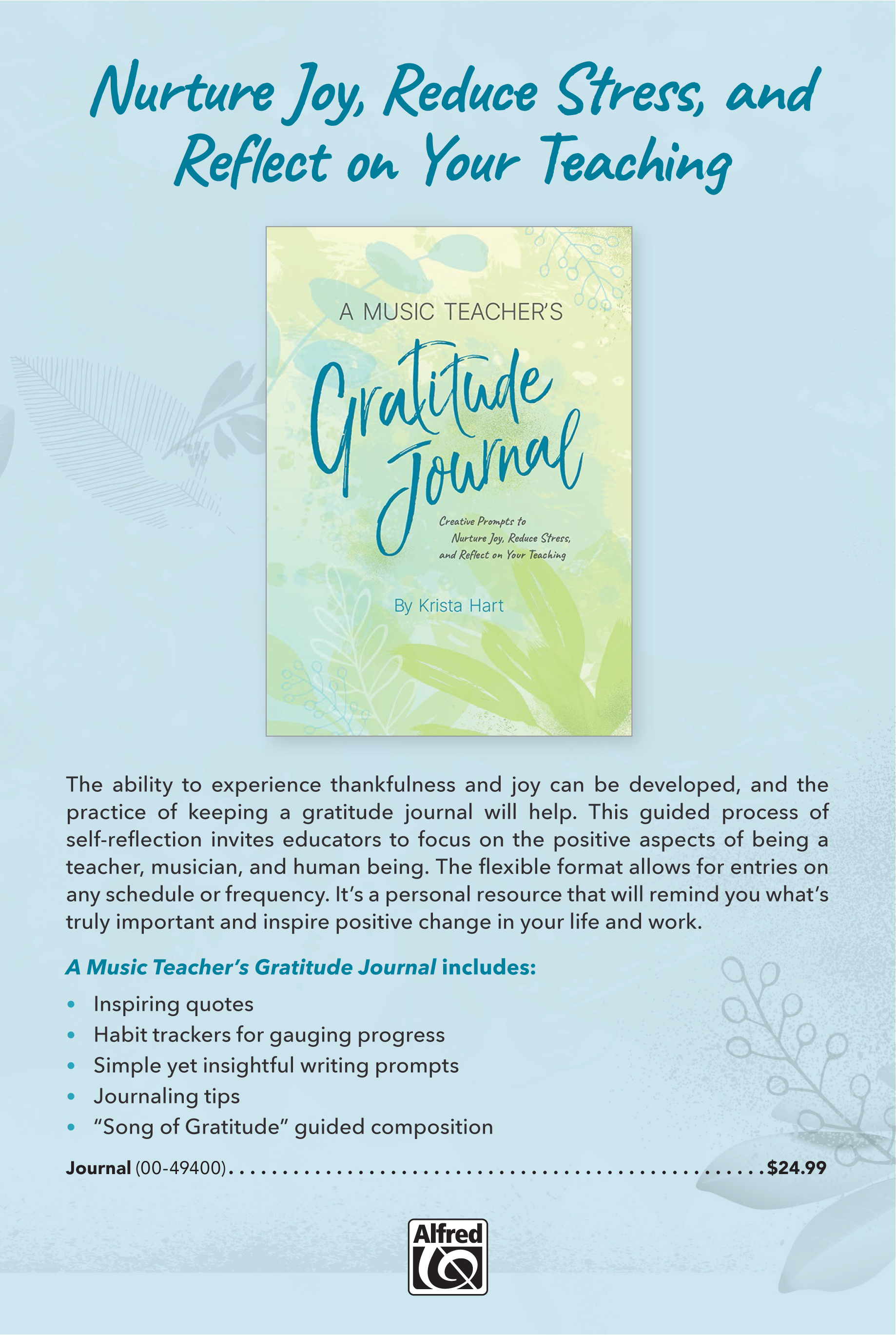 The Music Teacher's Gratitude Journal